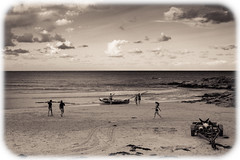 Evening at South Steyne Beach, Manly (Craig Jewell Photography) Tags: beach monochrome sepia landscape boat surf tide manly shoreline rowing oar 40 trailer blades lifesaver oars f40 surflifesaving southsteyne iso160 surfboat 2013 canoneos5dmarkii ¹⁄₄₀₀₀sec ‒1ev ef40mmf28stm surfboatrowing filename20130114174432mg5630cr2