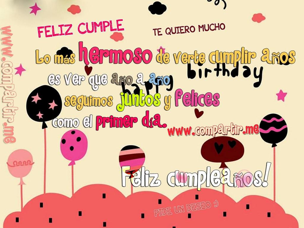 Frases de amor Happy Birthday hermosa tarjeta con frase especial para dedicar a alguien especial
