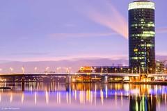 Frankfurt am Main (Anne Beringmeier) Tags: germany frankfurt main frankfurtammain ffm langzeit friedensbrcke gerippte wwwanneberingmeiercom