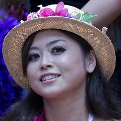 Pretty face (coqrico) Tags: portrait woman usa girl face festival japan lady female studio japanese hawaii pretty waikiki oahu hula young dancer rico honolulu prefecture anela 2014 danseuse leffanta