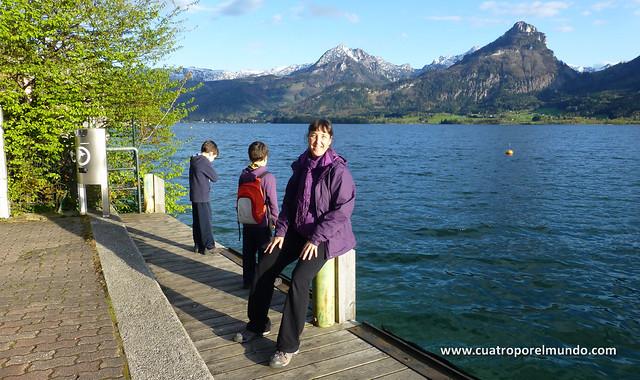 Paisaje a la orilla del lago