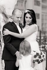 Family Portrait (Marielle B-R) Tags: family wedding portrait bw flower girl canon groom bride daughter bridal marielle 50d reiersgard