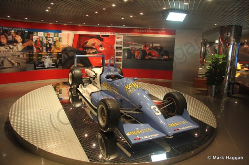 Michael Schumacher's car in the Macau Grand Prix museum
