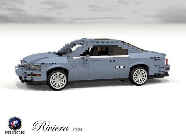 auto usa car america buick model gm riviera lego stuck general render motors 1995 gen luxury coupe challenge 92 1990s 8th 90s cad lugnuts supercharged povray fullsize moc ldd miniland mkviii foitsop lego911 personalcoupe stuckinthe90s