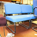 Blue modern office chairs