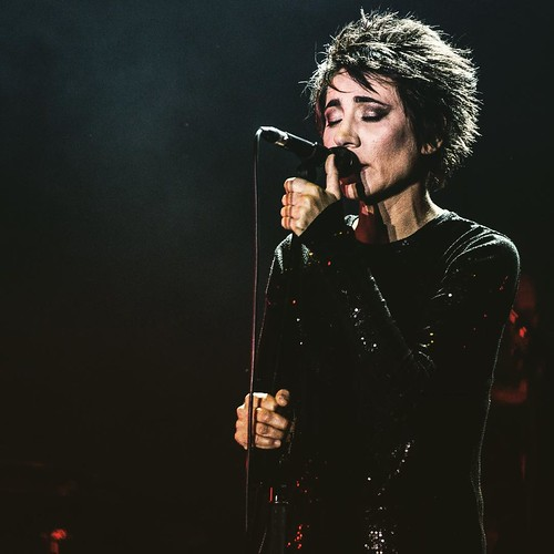 Russian singer #Zemfira performs at a rock festival in #Moscow