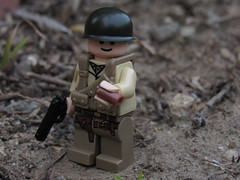 Uplifting (Captain-Brick) Tags: lego brickarms brick blurry captainbrick citizenbrick wwii war woodland followers outdoors moc minifigure dark dirt depth soldier grass allies