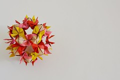 Sardinia Kusudama (Byriah Loper) (Byriah Loper) Tags: origami origamimodular modularorigami modular paperfolding paper polyhedron polygon kami kusudama compound byriahloper byriah abstract geometric complex