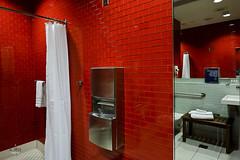 Bathroom interior (A. Wee) Tags: deltaairlines 达美航空 skyclub airport lounge 机场 lax losangeles 洛杉矶 california 加州 usa america 美国 bathroom