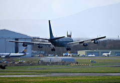 295 Boeing 707 Israeli Air Force landing at Prestwick (Allan Durward) Tags: 707 b707 boeing707 295 israeli israeliaf israeliairforce pik egpk prestwick prestwickairport glasgow glasgowprestwick scotland reem military