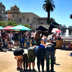 Flipping (joeclin) Tags: usa ca balboapark park sandiego sd appleiphone7 iphoneography people streetentertainment flipping balboaparkspanishvillage unitedstates northamerica california