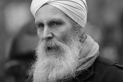 Street portrait (carlo612001) Tags: street portrait shot people man oldman beard turban faces eyes black white bw