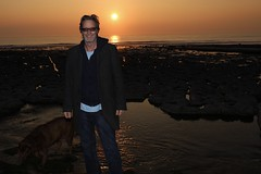 Man and Dog (edna.bucket) Tags: scottdelamo monknash chocolatelabrador sunset southwales nottrump