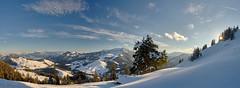 Alpine Sunset Panorama (W_von_S) Tags: alpine panorama sunset alpen sonnenuntergang alps mountains berge landscape landschaft paysage paesaggio natur nature sky himmel clouds wolken schnee snow winter winterlandschaft winterpanorama snowscape hike snowlandscape snowshoehike wvons werner sony outdoor sun sonne sonnenstern sunburst sudelfeld