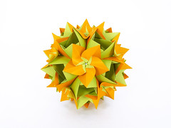 Babiana (masha_losk) Tags: kusudama кусудама origamiwork origamiart foliage origami paper paperfolding modularorigami unitorigami модульноеоригами оригами бумага folded symmetry design handmade art
