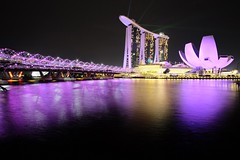 Singapore Trio (MF Alfath) Tags: helixbridge helix bridge marina bay sand marinabaysand marinabay singapore slowspeed fujifilm xt1 samyang samyang12mm slow speed lights star starburst lowapperture apperture