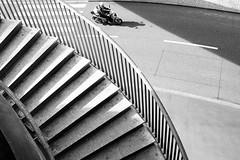 Curves (Ivan Rigamonti) Tags: zurich monochrome streetphotography biker