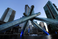 Jack Poole Plaza, Olympic Torch - Vancouver ('Dazza' Quarin...back from the Dead) Tags: jackpooleplaza olympictorch vancouver britishcolumbia canada olympics winterolympics