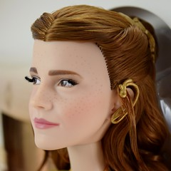 2017 Belle Limited Edition 17'' Doll - Live Action Film - US Disney Store Purchase - Deboxing - On Backing - Closeup Right Front View #3 (drj1828) Tags: us disneystore purchase liveactionfilm limitededition belle ballgown yellow le5500 2017 deboxing