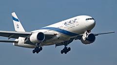 4X-ECB - Boeing 777-258(ER) - LHR (Seán Noel O'Connell) Tags: elal israelairlines 4xecb boeing 777258er 777 773 heathrowairport lhr egll tlv llbg ly315 ely315