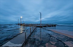 Not yet civil (JustAddVignette) Tags: australia beforedawn bluehour early firstlight landscapes light monavale newsouthwales northernbeaches ocean rockpool rocks seascape seawater sky sydney water