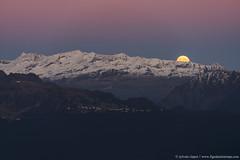 DSC_5588 (www.figedansletemps.com) Tags: chamrousse picsaintmichel vercors lune leverdelune pleinelune fullmoon ceinturedevénus montagne mountain alpes alps isère