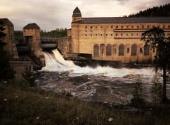 Power in Motion (JRJ.) Tags: norway flood powerplant hydroelectric flom spydeberg glomma canong1x