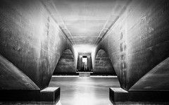 Catacombs (sandracanning) Tags: longexposure bridge water monochrome blackwhite nikon florida fineart arches fineartphotography d7000