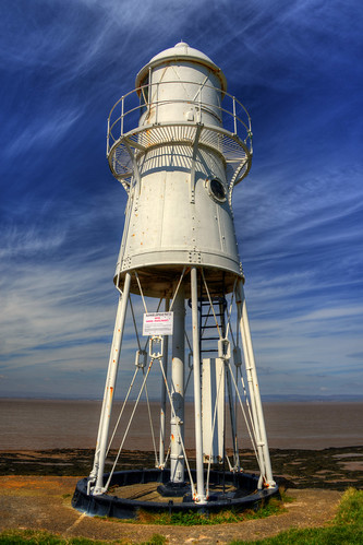 BLACK NORE LIGHTHOUSE, BLACK NORE POINT, PORTISHEAD, SOMERSET, ENGLAND.