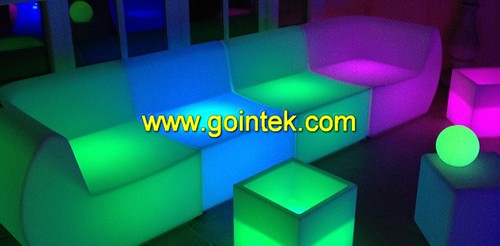 single seat sofa,Mordern sectional LED corner sofa