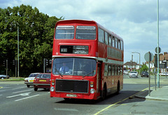 London Northern JOV778P Crossing Great Cambridge Rd Enfield 1990 (BristolRE2007) Tags: bus london buses londonbus volvoailsa