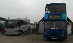'Wee Yin and Big Yin' (Wigan Airways) Tags: alexander leylandolympian leylandswift unitedcoaches reeveburgessharrier mcewanscoaches exwjc