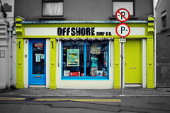 Offshore surf co (Yellabelly*) Tags: ireland irish surf noparking parking kinsale signage countycork doubleyellowlines surfingshop offshoresurfco