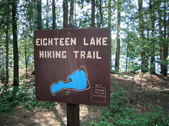 Eighteen Lake hiking trail
