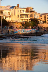 Bondi Beach in winter, late afternoon light (kiwi vic) Tags: beach bondi sydney australia bondibeach