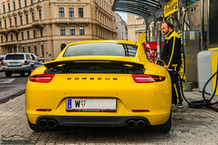 Porsche Carrera 991 Carrera S (Mark Koscak Photography - | BigMarx |) Tags: vienna wien people panorama sun nature car yellow thanks day please famous 911 like automotive banana gas gasstation event 1d porsche page petrol matches gumball carreras spoiler facebook porsche911 carphotography gumball3000 photograhpy carporn automotivephotography worldcars justinbieber gumball3k spoilerup 1direction arhitectury