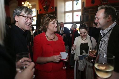 Chris Fujiwara and Fiona Hyslop at the Edinburgh Castle Reception