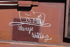 g-man (total annihilation) Tags: railroad art colors car train bench graffiti panel streak box letters freight moniker