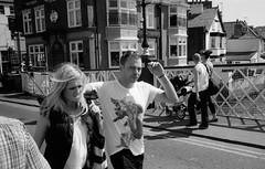 evil eye (Stemack Street) Tags: street leica bridge blackandwhite film analog 35mm couple kodak yorkshire trix streetphotography made whitby spotted analogue m6 evileye tx400