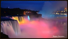 Amazing Niagra Falls (Anupam_ts) Tags: colors beautiful night lights amazing rainbow nikon 7100 niagrafalls niagra falls dslr americanfalls greatphotographers nikondslr nikonflickraward nikon7000