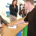 2003 Robert Winston signing books at the 2003 Edinburgh International Book Festival