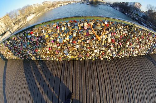 Pont des Arts (Paris) - fisheye