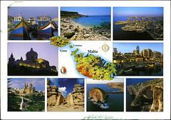 postcard - from Snoes, Malta (Jassy-50) Tags: postcard postcrossing malta map mapcard multiview island unescoworldheritagesite unescoworldheritage unesco worldheritagesite worldheritage whs