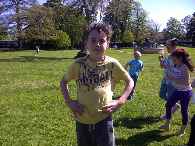 Gold medal at the Sunday school picnic in Blantyre