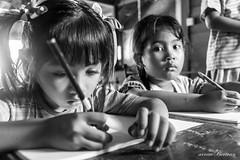 Learning to write (Arnaumb) Tags: travel people bali english students children indonesia education nikon muslim religion teacher math volunteer hindu ngo 135mm nonprofit d600 earthasia