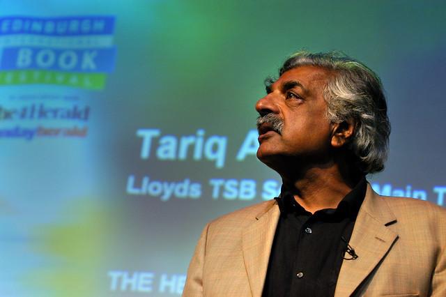 Tariq Ali on stage