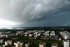 Dark Clouds (timo_w2s) Tags: summer cloud storm rain finland helsinki ominous dramatic cirrus vuosaari