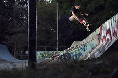 Kenji! (m.tones) Tags: summer canada vancouver photography nikon bc skateboarding 360 richmond flip 2470mm 3flip d700
