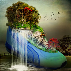 The sneaker surreal (jaci XIII) Tags: field surre
