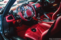 Pagani Huayra Carbon Edition (Marcel Lech Photography) Tags: red canada vancouver photography marcel weekend interior side cluster rear engine front showroom carbon fiber edition gauge luxury supercar exposed detailed lech pagani delaer huayra hypercar